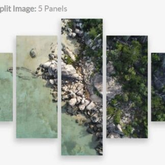 Canvas Split 5 panel image of the SS Bee Shipwreck located in Picnic Bay, Magnetic Island, North Queensland