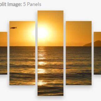 Canvas Split Image 5 panels various - Sunrise at Saunders Beach, North Queensland