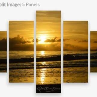 Canvas Print Sunrise Saunders Beach